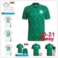 Hayranlar oyuncu versiyonu 2021 Afrika Kupası Cezayir # 7 Mahrez Futbol Forması 20/21 Ev Feghouli Brahimi BanaLi Bounedjah Maillots de Futbol Gömlek Atal Üniforma