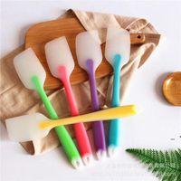 bake gadget silicone kitchen tool 21 cm Soft Seamless Spatula Butter Cream Scraper Brush Baking Maker LLD