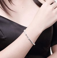 Promotions nice best women ladies gift 925 sterling Silver Pleated fashion jewelry Charms cuff wedding party bangle bracelet ps0937