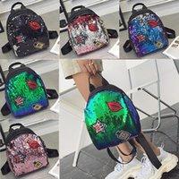 "WOMENS BRAND BAG LOUIS""VITTON DESIGNER Sequined Girl Sequins Handbag Storage Bags Bag Backpack Women Kids Travel Double Backpacks Qxsl"