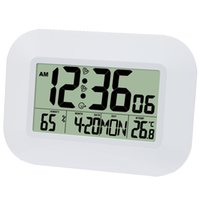 Big LCD Digital Wall Temperature Thermometer Clock Radio Controlled Alarm Clock RCC Table Desk Calendar for Home School Office A0607