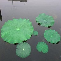 Dia 28 CM Artificial Flower PE Lotus Leaf DIY Wedding Home Pool Decoration Water Lily Green Leaves Supplies 40 Pcs