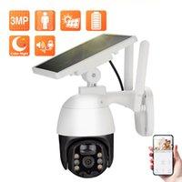 Techage 3MP Kablosuz Pil IP Kamera IP66 Güneş Paneli Açık WiFi PTZ Güvenlik PIR İnsan Algılama Video Gözetim Kameraları