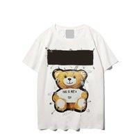 Diseñadores T Shirts Mujeres Hombres camisas Temprano Spring Man T-SHIRT Camiseta de moda casual Mujeres Top Tops Top Tees Manga corta Oso impreso Hombre Ropa Oso impreso 558