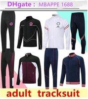 2021 Paris Tracksuits Jacket de football Set 21/22 Suivi de la tracksuit Mbappe Football Kit