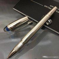 أزياء ماركة الأسطوانة الكرة القلم نافورة القلم الأقلام مع فريدة من نوعها الأزرق كريستال أعلى تصميم القرطاسية مكتب الأعمال للهدايا