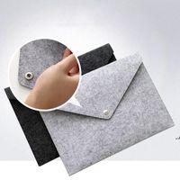 A4 Feltro Feltro Pocket Botão Durável Pastas De Arquivamento De Apresentação Criativa Portátil Bag Archival School Office Artigos Arquivos Holders DWF5927