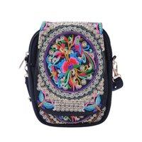 Duffel Bags Hirigin Drop Florals Вышитые Женщины Китайский Стиль Сумка Сумка Посланник Crossbody Lady's