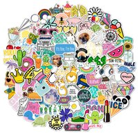 100 fresh style graffiti car stickers Skin Protectors bicycle skateboard guitar luggage waterproof sticker Computer Accessories