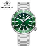 Saatı Addies Dalış Erkekler İzle 46mm Yeşil Arama Paslanmaz Çelik Takvim Seramik Çerçeve 1000 M Dalgıç Safir Kristal Aydınlık Saatler