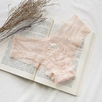 Women Sexy Panties Hollow Out Lace Underwear Ladies Transparent Briefs Female Lingerie Sexy Mesh Panties Womens Breathable Underwear 050714