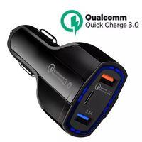 3 في 1 نوع c المزدوج USB شاحن سيارة 5A PD شحن سريع QC 3.0 شاحن سريع الهاتف شحن الهاتف محول ل xiaomi فون الروبوت الهاتف