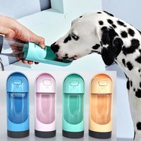 Dog Bowls & Feeders Water Bottle Portable Bowl Waterer Feeder With Filter Leak Proof Lock For Cat Puppy Travel Drinking Pet Supplies
