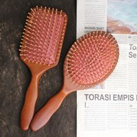 Hair Brushes 1PC Prevent Loss Massage Brush Hairbrush Comb Anti-static Wood Beech Airbag Scalp Care Healthy Wooden