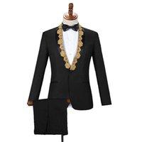 Abiti da uomo Blazer Blazer 2 pezzi tuta da sposa smokys smoking party ball giacca pantaloni ospite cantante batterista chorus musicista maschio costumi da palcoscenico