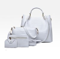 가방 Sugao 디자이너 여성 가방 어깨 토트 핑크 가죽 지갑 크로스 바디 PU 4pcs / 세트 핸드백 고품질 지갑 S WGDGF
