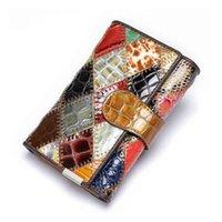 WESTAL Women's Wallet Genuine Leather Patchwork Wallet for Women Clutch Bags for Cellphone Women's Purses Coin Wallets Long 4202 C0602