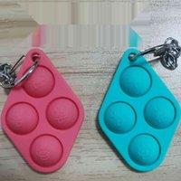 Keychain Finger Toys Pop It Fidget giocattolo Catena chiave Push Bubble Board gioco Sensoriale semplice Dimple Autismo Ansia Stress Stress Reliever H38VIT4