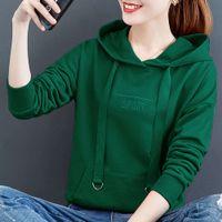 Weiyi women's 2021 new fashion spring and autumn thin short loose version Xinjiang Cotton Hooded Long Sleeve Jacket
