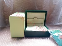 Super Quality Top Luxury Watch Rolex Boxes Brand Green Original box Papers Mens Gift Watches Leather bag Card 0.8KG 008