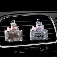 Car Crystal Clip-On Ornament Air Vent Perfume Clip For Improve Environment N84F Freshener