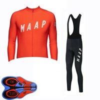 Maap Pro Takımı Bisiklet Forması Set 2020 Erkekler Sonbahar Uzun Kollu Bisiklet Kıyafetleri Nefes Açık Sürme Giysi Bisiklet MTB Giyim Y20111301