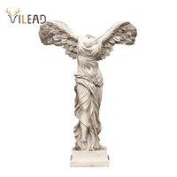 Vilead 16cm 25 cm 40cm Resina Vitória Deusa Estátua Escultura Artesanato Ornamentos Modelo Personagem Figurinhas Decoração Home Vintage 210811