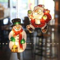 US-Bestände Weihnachtsdekorationsleuchten Fenster Hängende Dekor Weihnachtsbeleuchtung mit Saugnapfhaken für Festival Party Showcase Shop