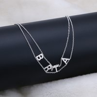 Name Letter Necklace 9MM Crystal Name Necklace Personalize Choker Custom Women Pendant Heart Necklace Joy Gifts