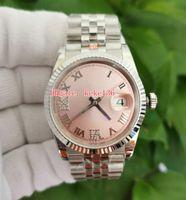 GMF relógios de pulso relógios à prova d 'água 126234 36mm rosa dial inox 904L diamante romano jubileu eta 3255 movimento automático mecânico senhoras relógio das mulheres