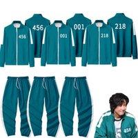Squid Game Theme Costume Korean Popular Movie Gym Actor Li Zhengjae Same Sportswear Sweater Suit 456 218 067 001 Men'S And Women'S Autumn Zipper Jacket Casual Pants