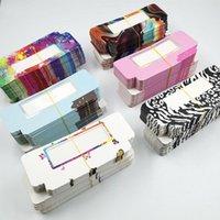False Eyelashes Wholesale 50pcs Eyelash Packing Box Blank Package Multicolor Paper Customized Flash Make Up