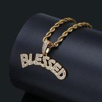 Хип-хоп Ювелирные Изделия Благословенные Пузырьковые Письмо Подвеска Золото Серебро Цвет Мужчины Женщины Ожерелье Out Cubic Zircon Rapper Ожерелья