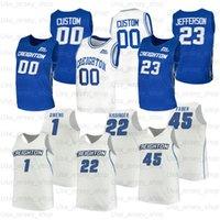 Custom Creighton College Basketball Jerseys 5 Ty-Shon Alexander 23 Damien Jefferson 13 Christian Bishop 25 Korver 4 Shereef Mitchell 43 Kelvin Jones