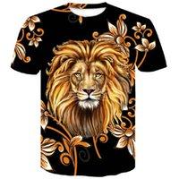 2019 새로운 사자 망 T 셔츠 3D 인쇄 반팔 블랙 티셔츠 하라주쿠 여름 힙합 남자 Tshirt 탑 플러스 사이즈 셔츠 xxxxlsoccer 저지
