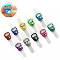Mini Hand Hold Band Tally Counter LCD Digital Screen Finger Ring Electronics Head Count Buddha Electronic Counters 10 Colors