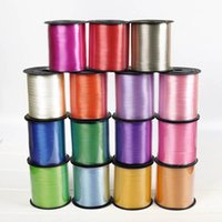 Party Decoration Birthday Decorations Crafts Foil Curling 250 Yards Multi Color 5mm Balloon Ribbon Roll DIY Gifts Wedding Supplies