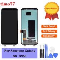 Original 100% Testado Painéis LCD Display Tela Touch Screen Digitador Parte de Substituição para Samsung Galaxy S8 G950 G950A G950F G950T G950V Livre DHL