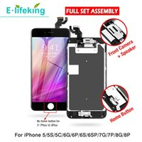 AAA+++ Full Set LCD Panel For iPhone 5 5S 5C 6G 6S 6 Plus 6SP 7G 7P 8 8P Display Touch Screen Digitizer Complete Assembly With Home Button Front Camera Replacement