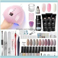 Kits Art Salon Health & Beautyacross 10Pcs Nail Gel Polish Kit With Set Uv Led Lamp Dryer Soak Off Manicure Tools Electric Drill Tool1 Drop