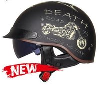 2021 motorcycle helmet men and women half helmet retro brim winter warm knight motorcycle helmet