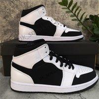 Con la caja de la parte superior de la calidad Jumpman 1 1S High Travis Treadless Obsidian ONC Shoe Hombre Zapatos de baloncesto Banned Bred Toe Chicago Boy Chica Negro Red Red Sneakers
