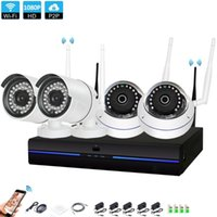 Sistema sem fio 1080P NVR 4PCS 2.0MP IR ao ar livre Indoor P2P WiFi IP Security Camera Sistemas de Kit CCTV