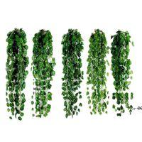 New1 PCS 2M Artificial Ivy Folha Verde Guirlanda Plantas Vine Falske Folhagem Flores Home Decor Plástico Artificial Flor Rattan String EWD6043