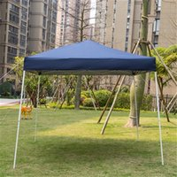 US Stock Sombras Blue Portable Home Use Tenda Impermeável 210D Oxford Tecido Materiais Tratamento Delicado Estilo Dobrável