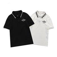 Italia Polo T-shirt T-shirt 2021 Polos Snake Bee Embroidery floreale da uomo Polos High Street Fashion Stripe Stampa Polo T-Shirt822