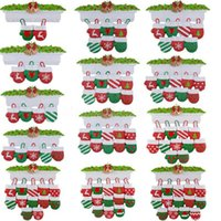 Us Stock DHL Free NewStyle Personalisierte Familie Weihnachtsbaum Ornament Anhänger Mini Weihnachtsstocking Hängende Anhänger