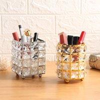 European crystal pen holder Nordic fashion makeup tool storage bucket desktop nail art makeup brush storage decoration creative