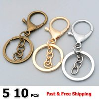 Bag Parts & Accessories Bulk 5 10pcs lot 30mm Key Ring Classic Plated Lobster Clasp Hook Chain Jewelry Making For Keychain DIY
