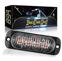 트럭 12V 24V 4 6 LED 스트로브 경고 비상 조명 그릴 깜박이는 라이트 바 자동차 비콘 램프 앰버 노란색 흰색 신호등